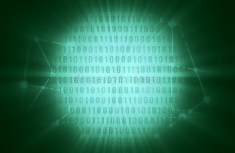 Contexte de code binaire illustration de vecteur