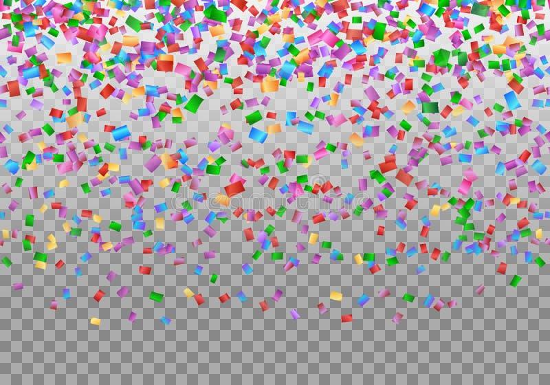Contexte de frontière de confettis illustration stock