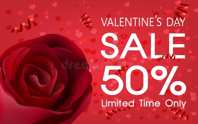 Contexte de vente de jour du ` s de Valentine photos libres de droits