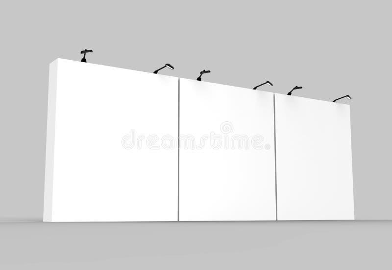 Contexte droit de support de bannière d'affichage de tissu de tension d'exposition pour le support de la publicité de salon comme illustration libre de droits