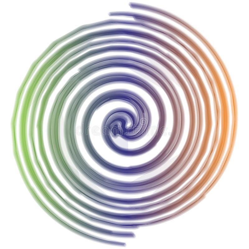 Contexte en spirale d'arc-en-ciel illustration stock