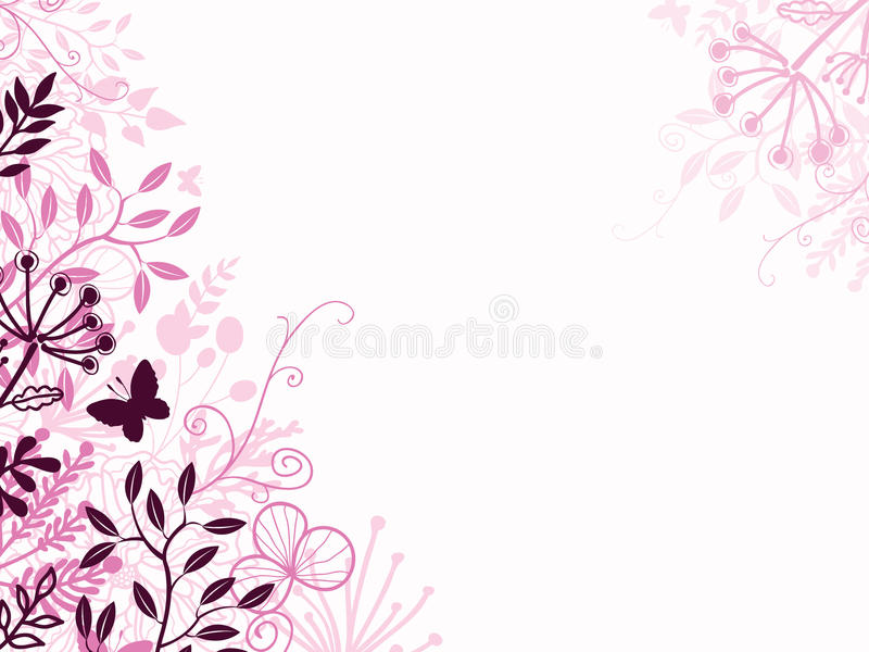 Contexte floral de fond de rose et de noir illustration libre de droits