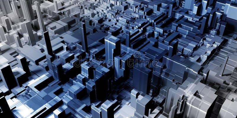 Contexte gris abstrait de ville illustration de vecteur