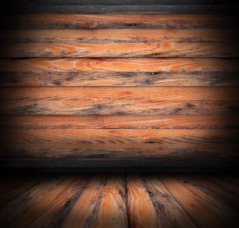 Contexte intérieur abandonné d'une loge photo libre de droits