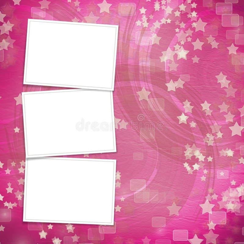 Contexte multicolore pour des invitations avec des trames illustration de vecteur