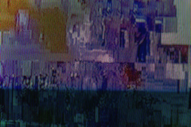 contexte numérique abstrait de conception avec l'erreur de problème de TV photo stock