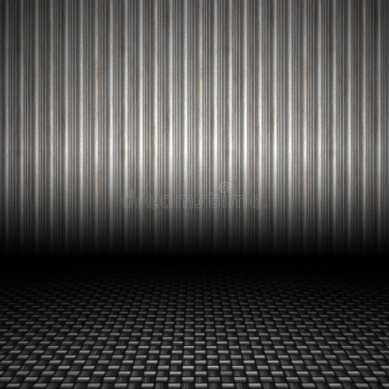 Contexte ondulé en métal illustration de vecteur
