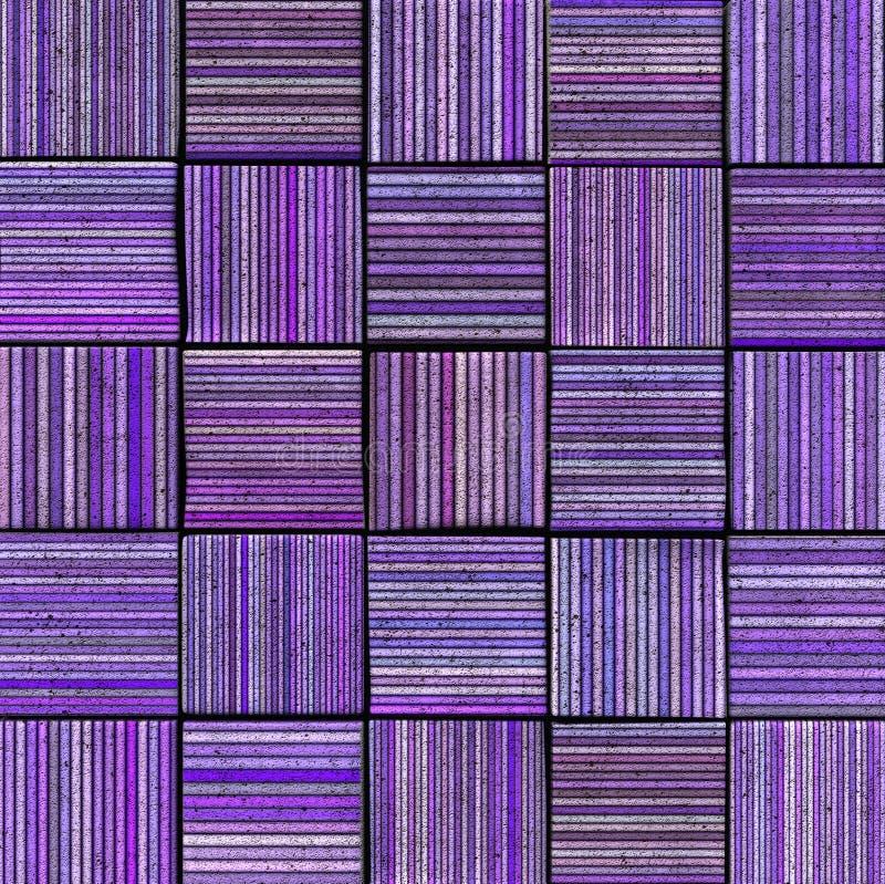 contexte rayé abstrait de la tuile 3d en lavande pourprée image stock