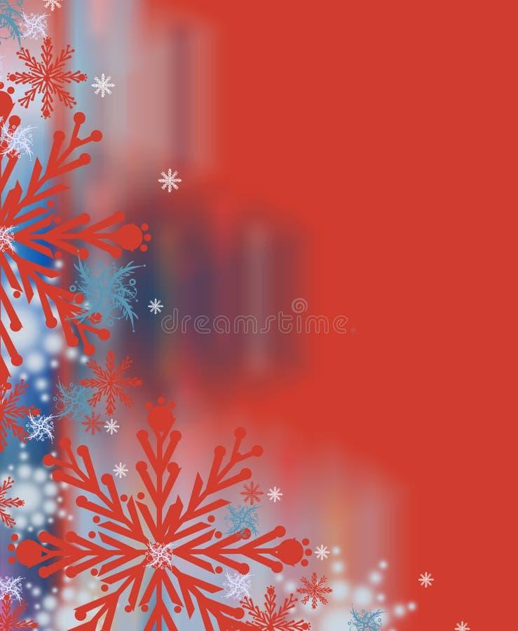Contexte rouge renversant de Noël illustration stock