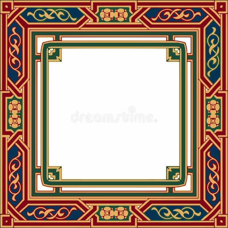 Contexto étnico colorido com padrões Ornamento vetorial árabe ilustração stock