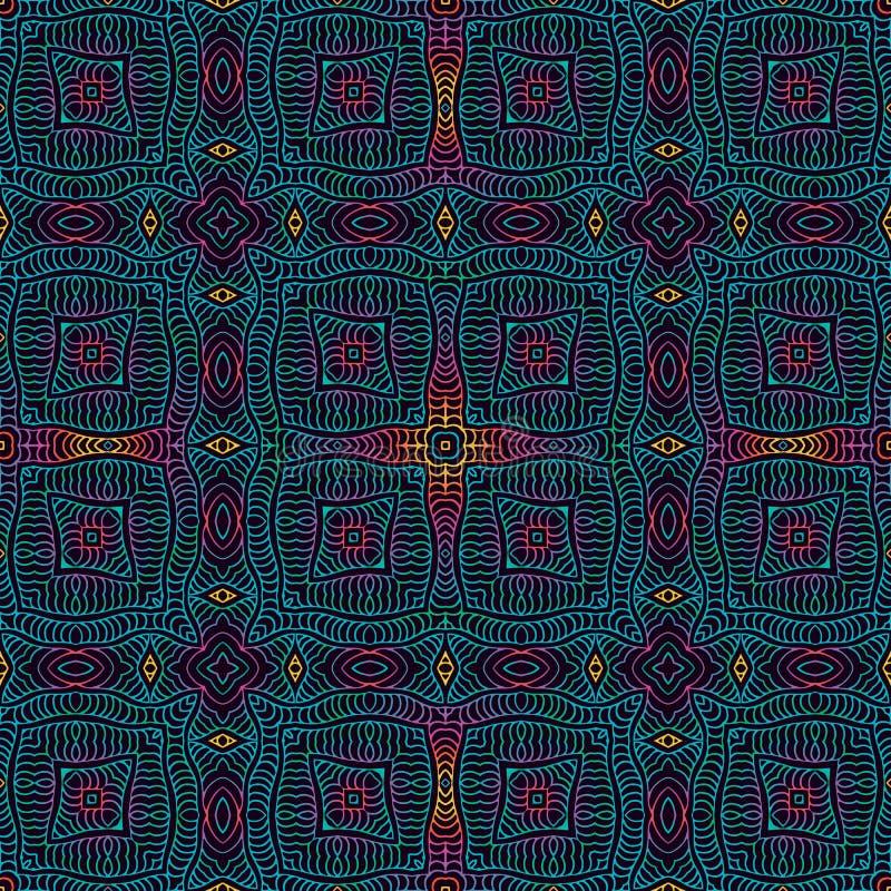 Contexto étnico tribal do vintage, textura sem emenda ilustração royalty free