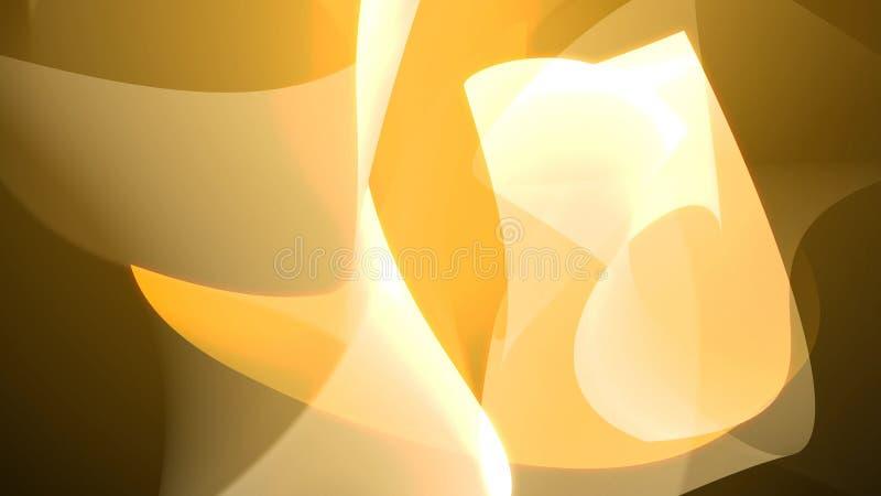 Contexto abstracto amarillo con formas de la curva y de la torsión libre illustration