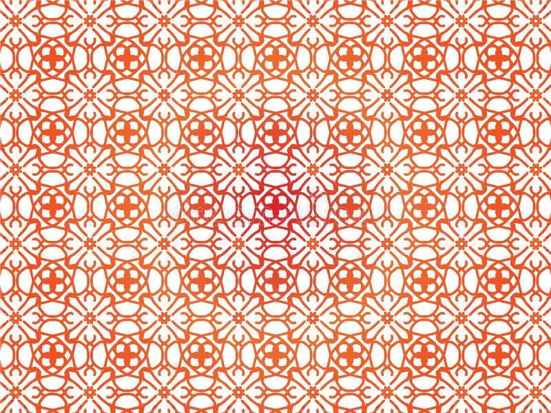 Contexto abstracto de la repetición con el ornamento floral del cordón Diseño inconsútil para las impresiones, materia textil, de stock de ilustración
