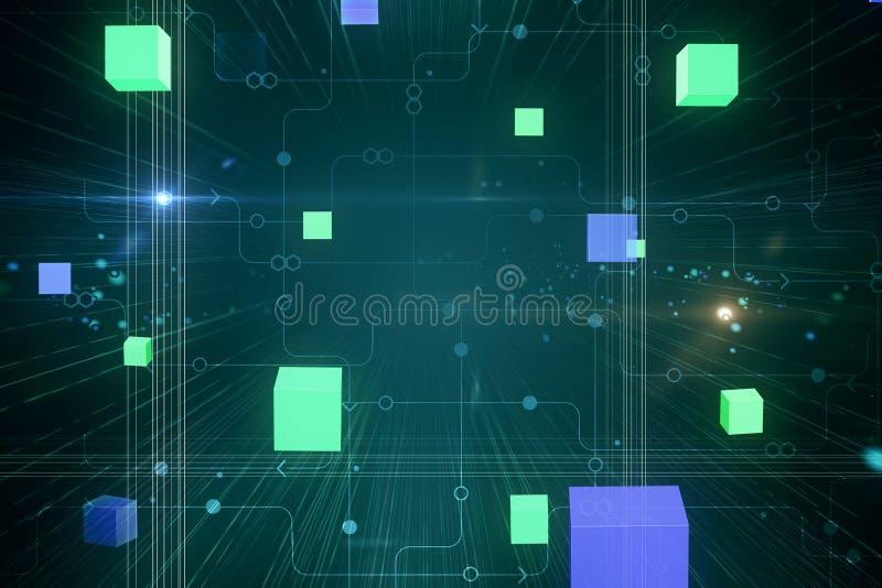 Contexto abstrato do Cyberspace ilustração stock