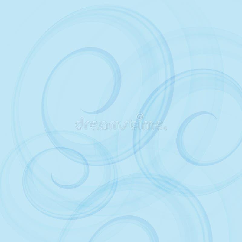Contexto azul de roda Onda abstrata Ilustração do vetor imagem de stock royalty free