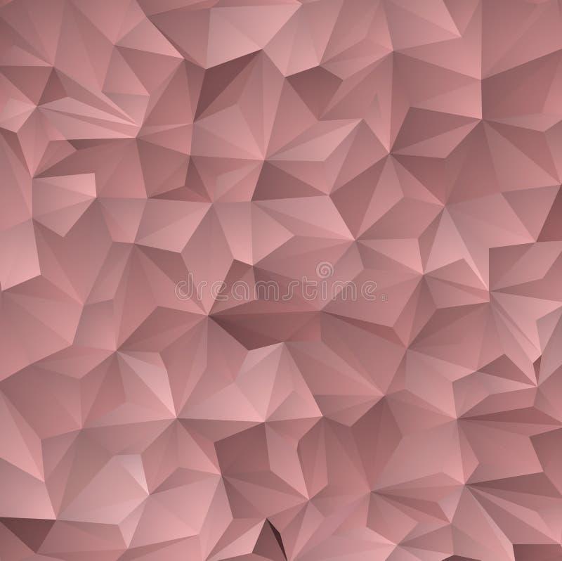 Contexto azul marino, rojo del extracto del polígono del vector Ejemplo abstracto del brillo con tri?ngulos elegantes stock de ilustración