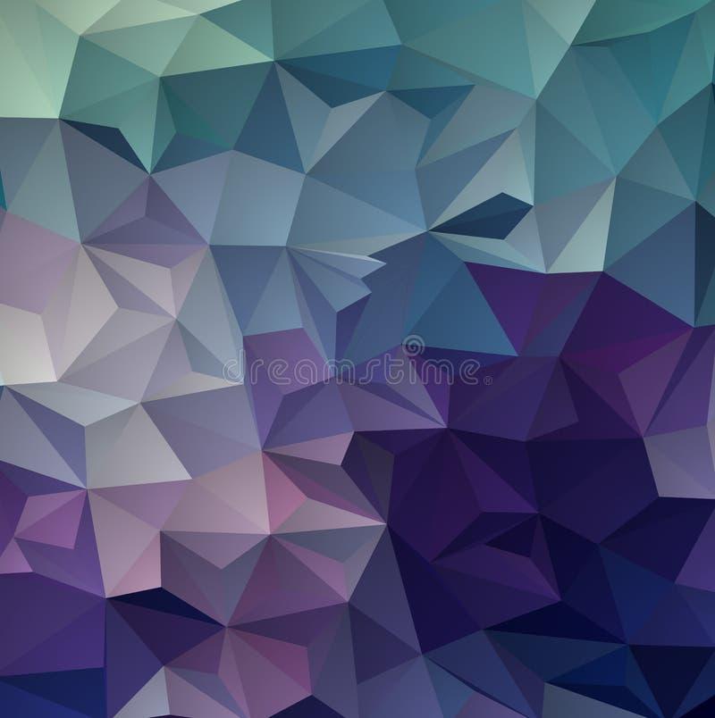 Contexto azul marino, rojo del extracto del polígono del vector Ejemplo abstracto del brillo con tri?ngulos elegantes ilustración del vector