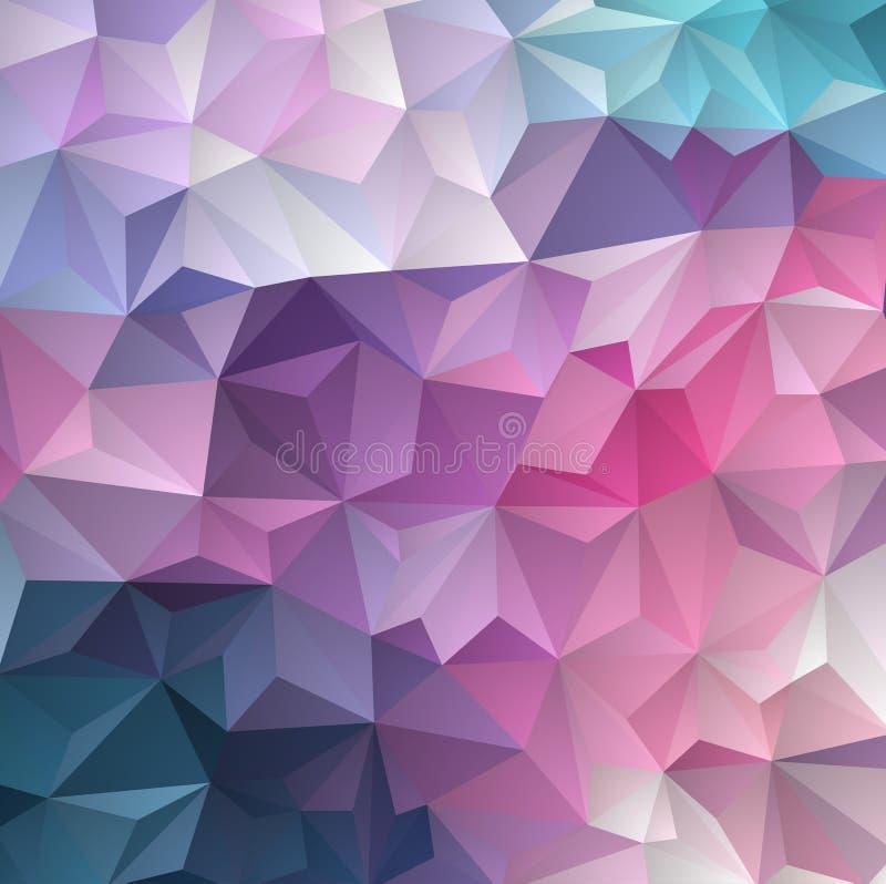 Contexto azul marino, rojo del extracto del polígono del vector Ejemplo abstracto del brillo con tri?ngulos elegantes libre illustration