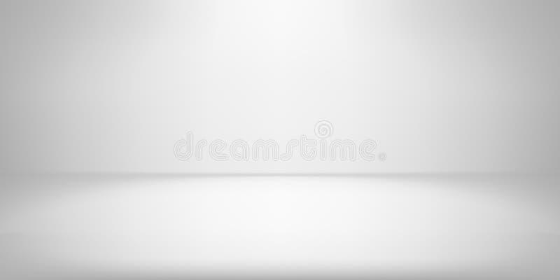 Contexto blanco del lightbox del photobox de la pendiente del vector del proyector del fondo del sitio del estudio libre illustration