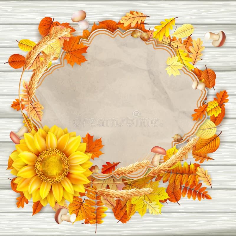Contexto brillante hermoso del otoño EPS 10 ilustración del vector