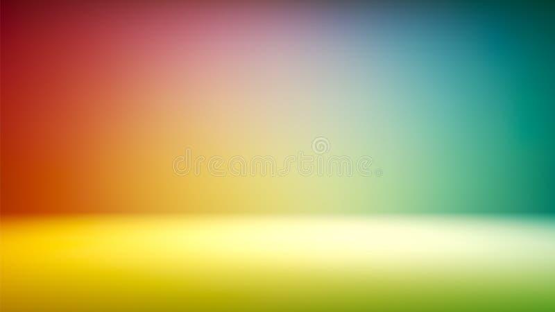 Contexto colorido del estudio de la pendiente con el espacio vacío para su contenido stock de ilustración