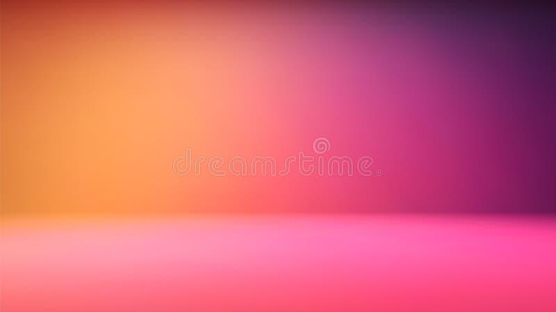 Contexto colorido del estudio de la pendiente con el espacio vacío para su contenido ilustración del vector