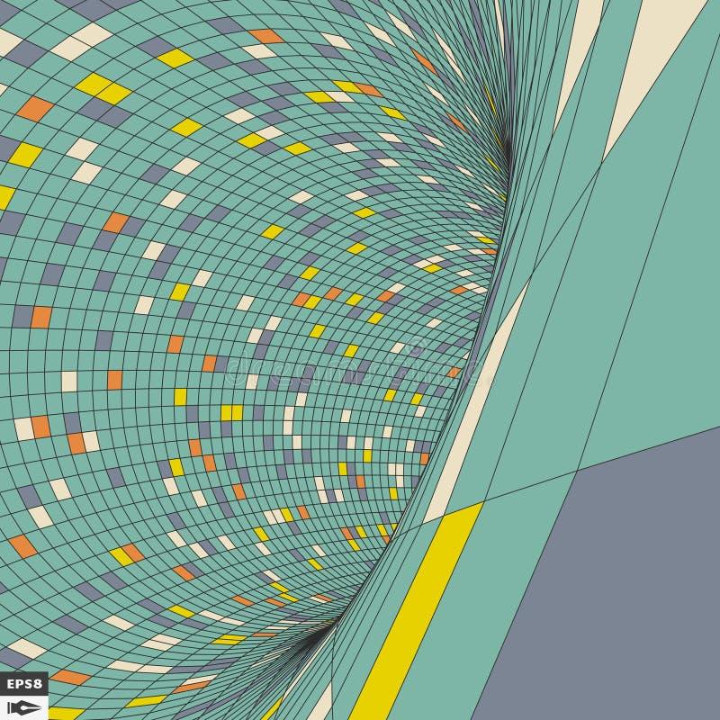 Contexto colorido do mosaico Teste padrão geométrico abstrato Ilustração do vetor ilustração do vetor