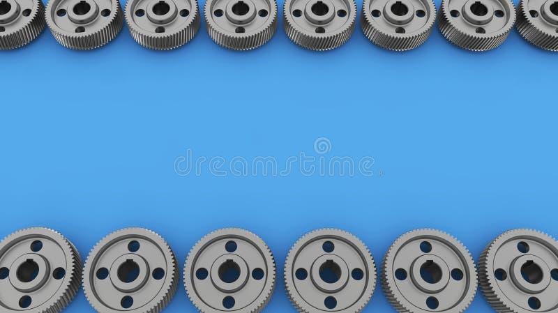Contexto com engrenagens e rodas denteadas fotografia de stock