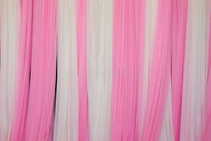 Contexto cor-de-rosa e branco da tela fotografia de stock royalty free