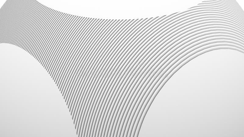 Contexto da arquitetura abstrata 3d Ilustração da BALL Branca Wallpaper Geométrico Moderno Design de tecnologia futurística ilustração royalty free