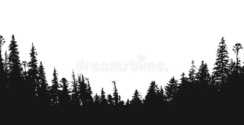 Contexto da silhueta da floresta ilustração do vetor