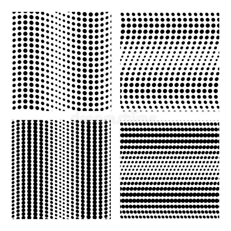 Contexto de la colección del vector de los puntos Sistema inconsútil del modelo de lunar del punto Plantillas del fondo de los te libre illustration