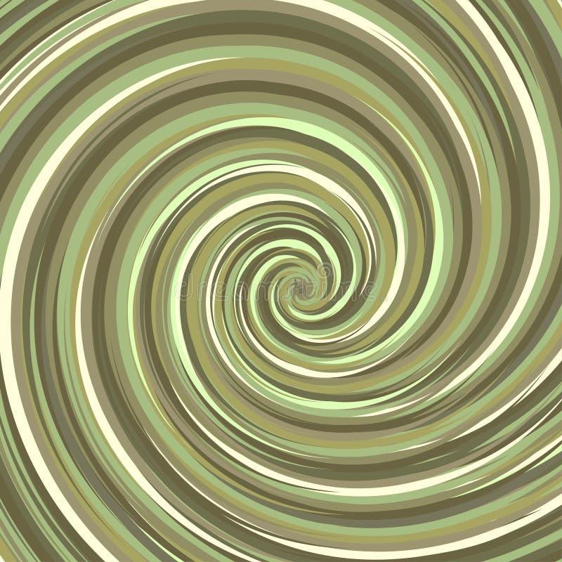 Contexto de roda Cor de superfície espiral da avelã ilustração do vetor