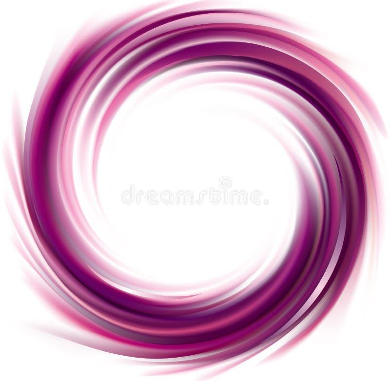 Contexto de roda do vetor Superfície líquida espiral do lilás ilustração stock