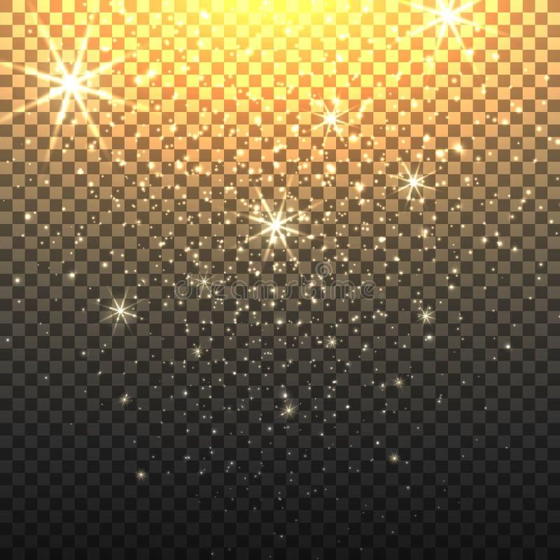Contexto de Stardust com fundo transparente ilustração royalty free