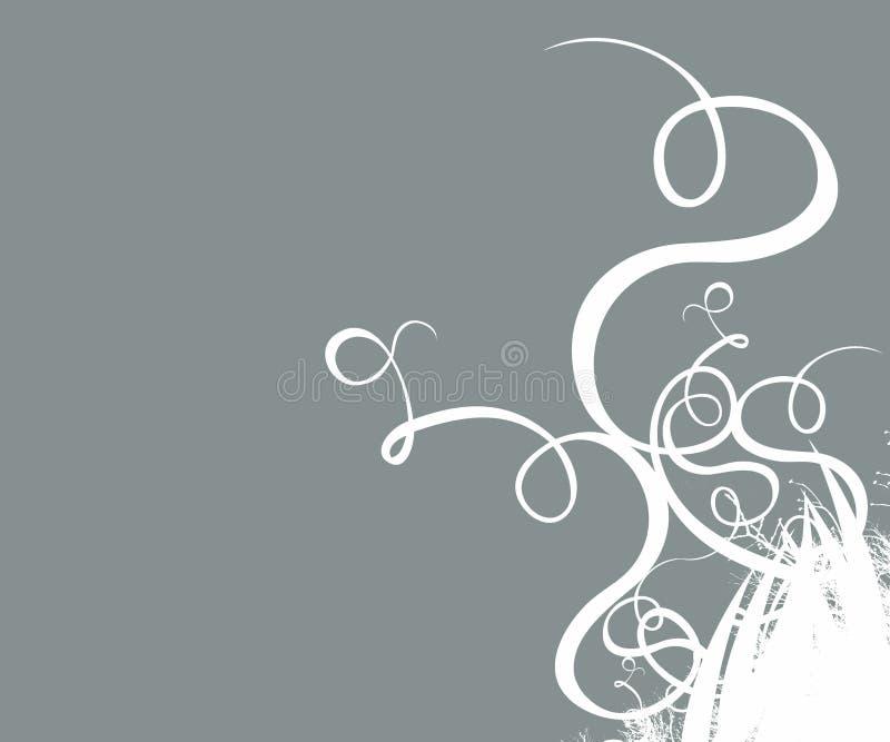 Contexto decorativo da arte -final da fantasia de Grunge ilustração stock