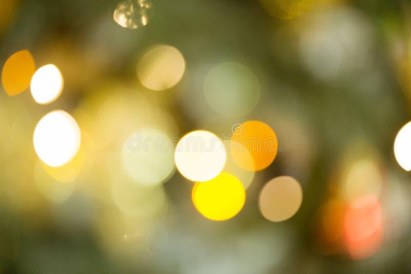 Contexto del Año Nuevo Fondo borroso con el bokeh de oro Maqueta de la Navidad o tarjeta de felicitación Fondo del día de fiesta  fotografía de archivo libre de regalías