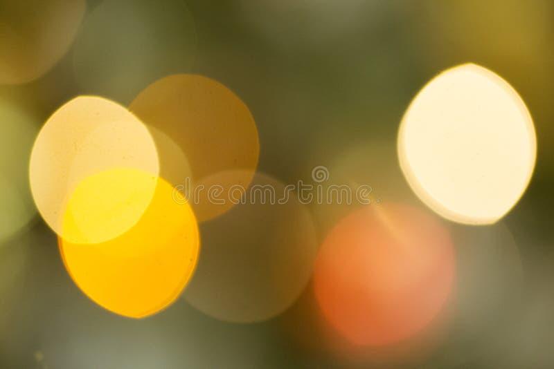 Contexto del Año Nuevo Fondo borroso con el bokeh de oro Maqueta de la Navidad o tarjeta de felicitación Fondo del día de fiesta  fotos de archivo libres de regalías
