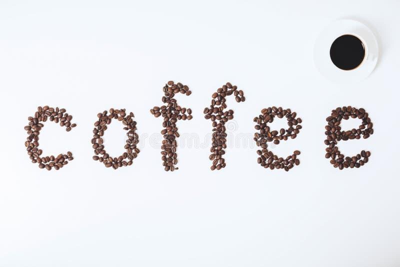 Contexto del café con leche fotografía de archivo