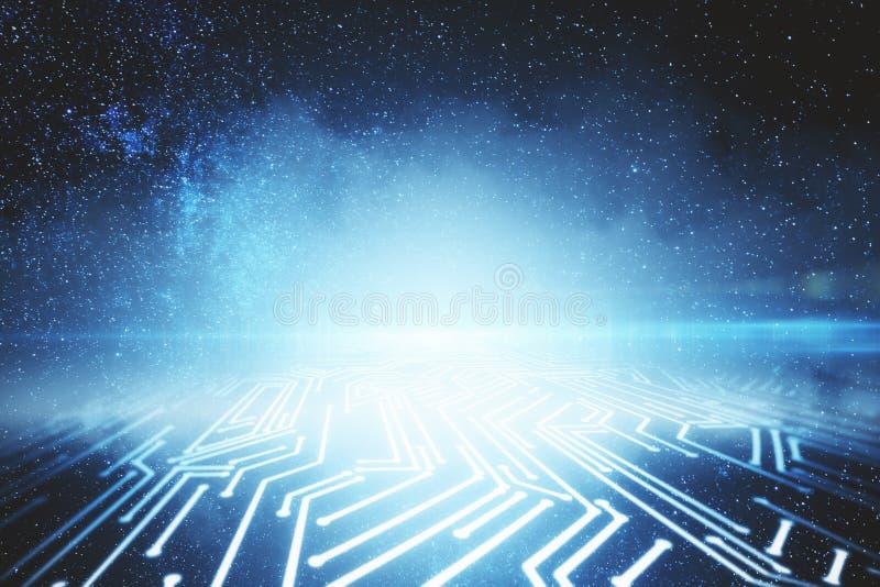 Contexto digital abstrato do céu ilustração do vetor