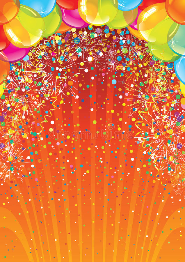 Contexto do aniversário da celebração Imagem do vetor ilustração stock