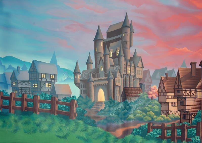 Contexto do castelo ilustração do vetor