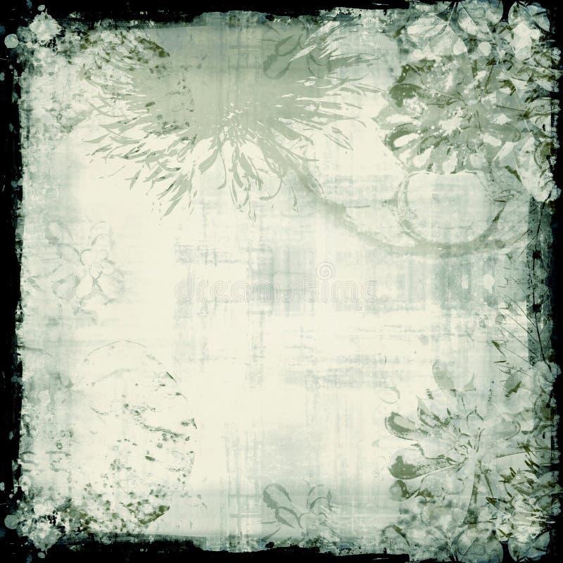 Contexto floral de Grunge ilustração stock