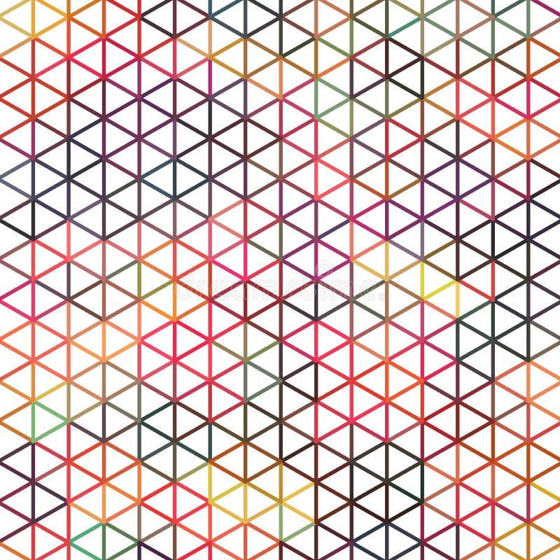 Contexto geométrico simple del triángulo ilustración del vector