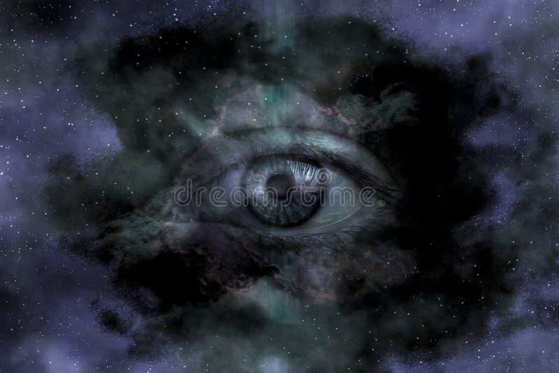 Contexto gigante do starscape do globo ocular na galáxia imagens de stock