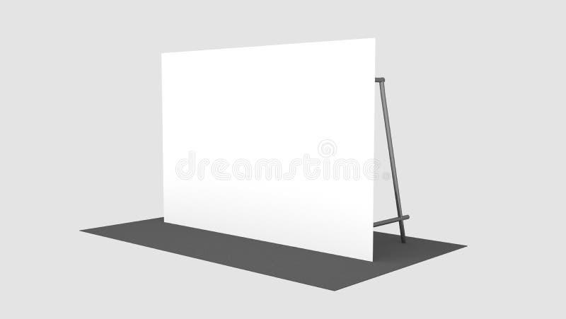 Contexto, medidores da bandeira 2x3 da imprensa com carpit preto 3d rendem o molde Modelo ilustração stock