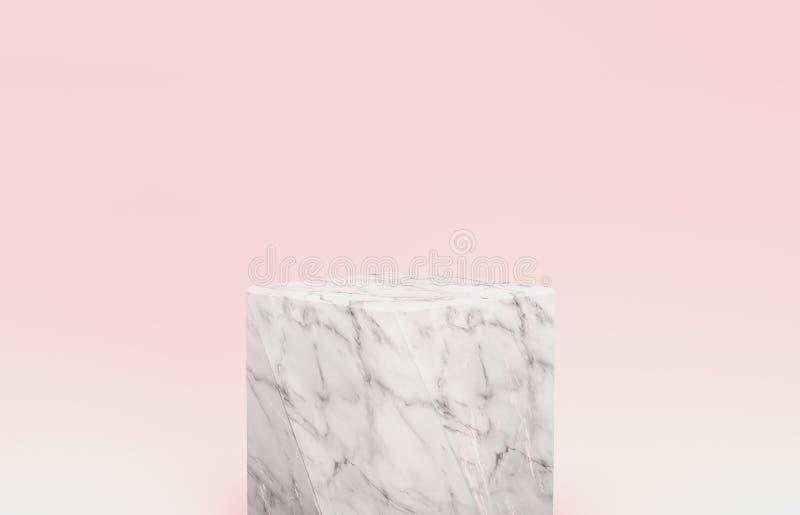 Contexto natural da beleza para a exposição cosmética do produto fundo da cor pastel da beleza da forma ilustração royalty free