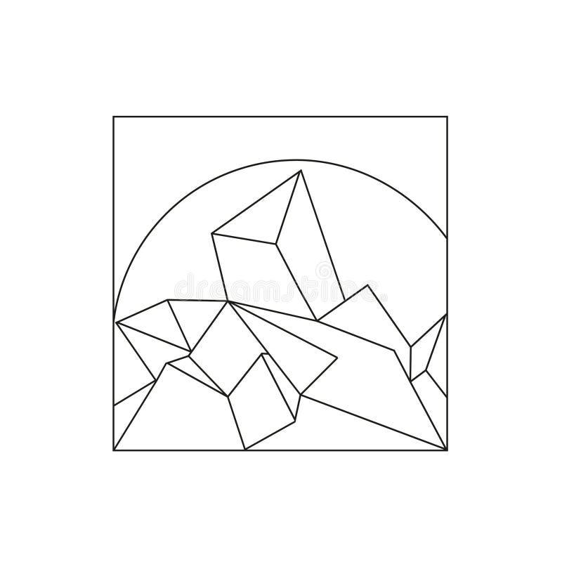 Contexto poligonal del triángulo del vector fotografía de archivo
