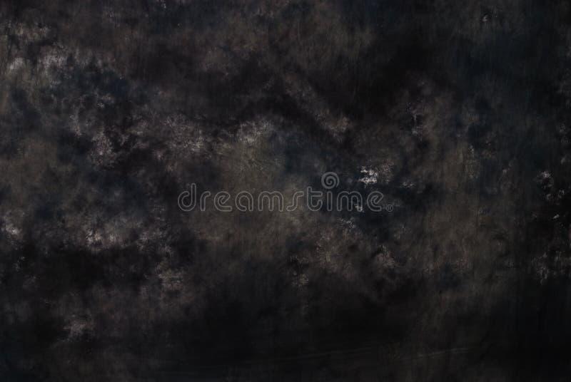 Contexto preto da fotografia de muslin imagem de stock