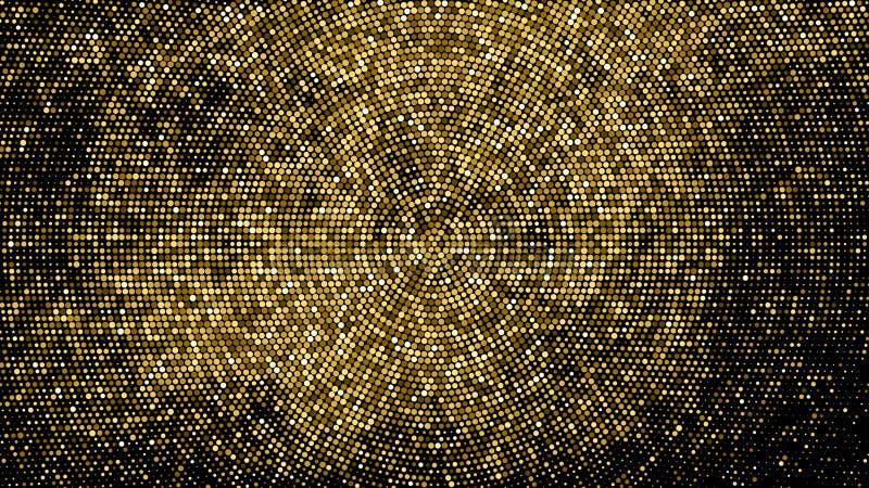 Contexto punteado tono medio del brillo del oro libre illustration